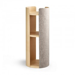 Scratching post for cat in wood and felt - Torre