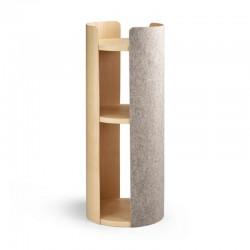 Tiragraffi per gatto in legno e feltro - Torre