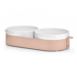 Double Porcelain Bowl for Cat and Dog - Lizzy