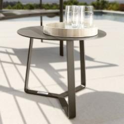 Tavolino tondo da esterno in alluminio - Touch