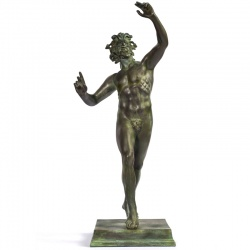 Dancing Faun Bronze Statue