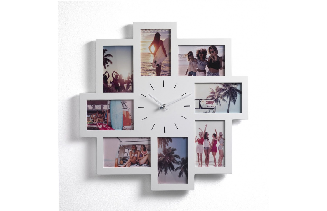 Photo Frame with Clock in MDF - Olly