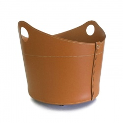 Firewood Holder in Leather - Cadin