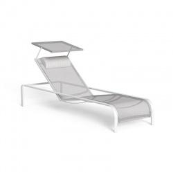 Lettino con parasole impilabile e reclinabile - Milo