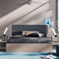 Double Bed in Wood with Storage - Dofia 02