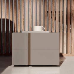 Modern Wooden Bedside Table with Drawers - Ilo