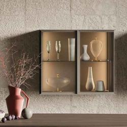Vetrina a parete soggiorno con luce interna - Teka