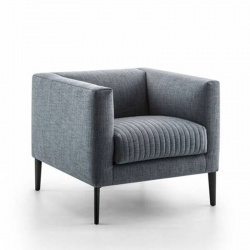 Square Design Armchair with Armrests - Synthesis