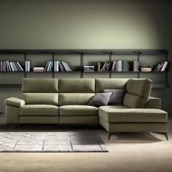 Corner Sofa with Pull Out Seat and Storage Armrest - Space Look