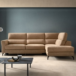 Sofa Bed with Chaise Lounge - Space Spark