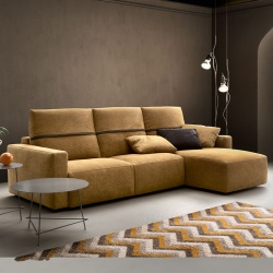 4 Seat Sofa with Chaise Longue - Deep Real BR19