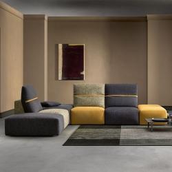 Modern Modular Sofa in Fabric - Deep Real