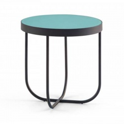 Round Coffee Table with Glass Top - Case