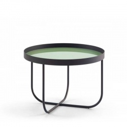 Coffee Table with Glass Top - Case